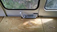 Some fancy jigsaw work arround the door handle..