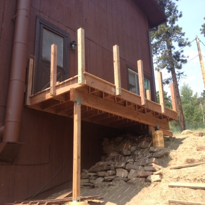 Midway through rebuilding deck # 1 (6'x10')