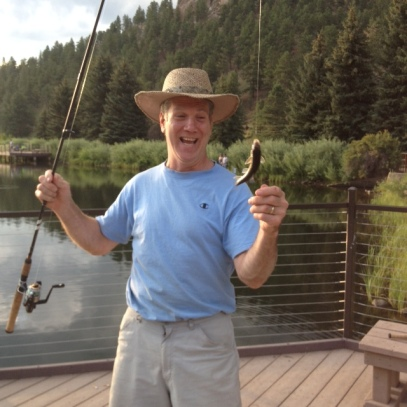 Pops catching his first first in 30 years!