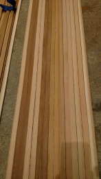 Resulting canoe strips