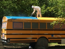 Painting the bus!