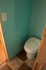 Our bathroom is now turquoise