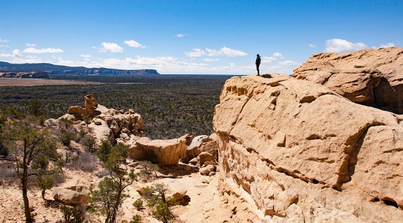 Sandstone bluffs overlook El Malpais