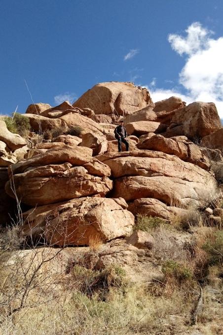 Hiking Indian Bread Rocks, Bowie AZ