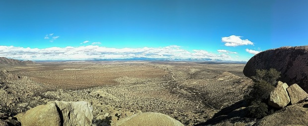 View from peak at Indian Bread Rocks Recreation Area
