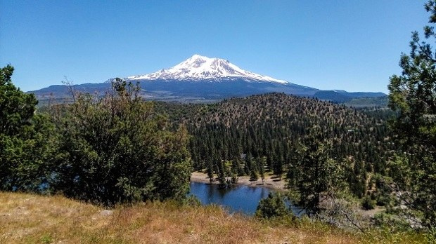 View of Mt Shasta from Lake Shastina Campground
