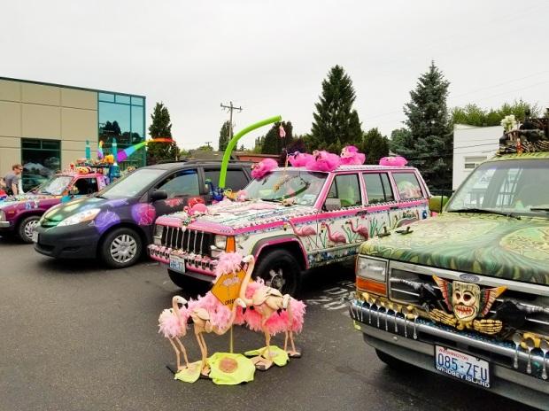 Art Cars at Fremont Solstice Fair Seattle WA
