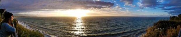 Sequim WA Sunset over Strait of Jauan de Fuca